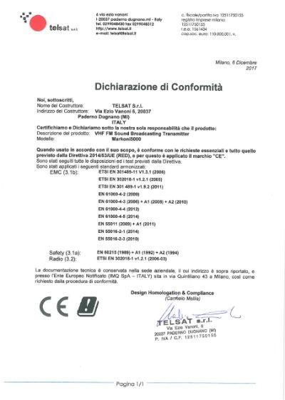CE Markoni Declaration